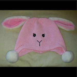 """Stephan Baby"" Knit BUNNY RABBIT Beanie 6-12Mo"